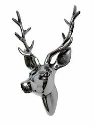 Deer Head Aluminium Stag Wall Animal Sculpture