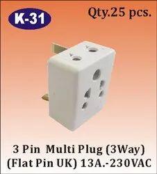 K-31 3 Way 3 Pin Multi Plug