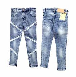 Blue Kids Girls Jeans KG-OO14, Waist Size: 32-40