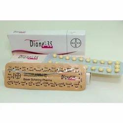 Diane 35 Tablet, Cyproterone   ethinyl estradiol