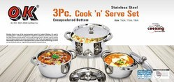 Stainless Steel Cook N Serve Kitchenware