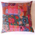 Patch Theme Velvet Cushion Covers