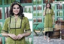 Cotton Hand Block Brush Printed Kurti