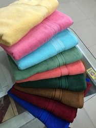 Plain Solid Bath Towels (Soft Flow Dyed), Size: 30*60 inches, Weight: 500 grams