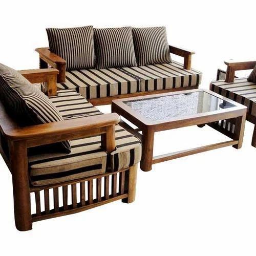 Brown Wooden Sofa Set, Rs 20000 /set Royal Agency | ID: 16154139888