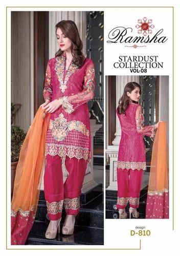 355c8ae9cf Chiffon Party Wear Pakistani Designer Suits, Rs 18000 /bag Abebe ...