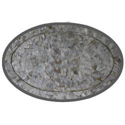 Round Marble Stone Inlay Table Tops