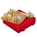 Traditional Silver & Gold Plated Bowl Set