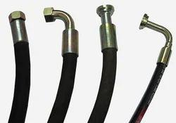Black High Pressure Hydraulic Hoses