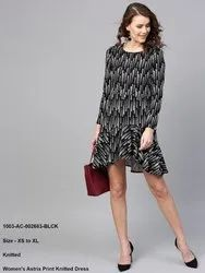 Astrix Print Knitted Dress