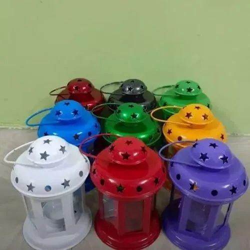 Iron LED Paint Coated Tea Light Lantern