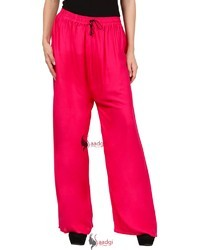 Saadgi Plain Solid Pure Rayon Plazzo Pants