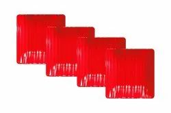 Melamine Square Snack Plate (RED)