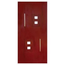 Hinged Single Door Wooden Safety Door, for Home, Size: 8*4 Feet