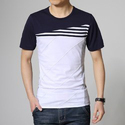 Men White Casual Tee Shirts, Size: Small