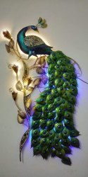 PC NEON COLOUR Metal Peacock Wall Art, For House Warming, Size: 30 X 48