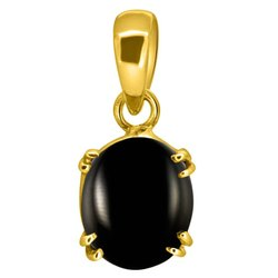 Black Onyx Pendant Men and Women Asthdhatu Gemstone