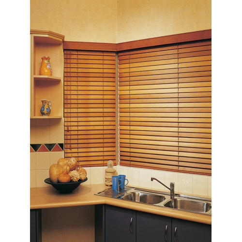 Wooden Plain Brown Laminated Blind, Thickness: 5 mm
