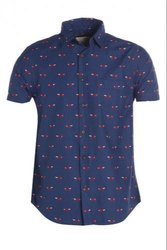 Cotton Mens Printed Half Sleeve Shirt, Size: S - XXL