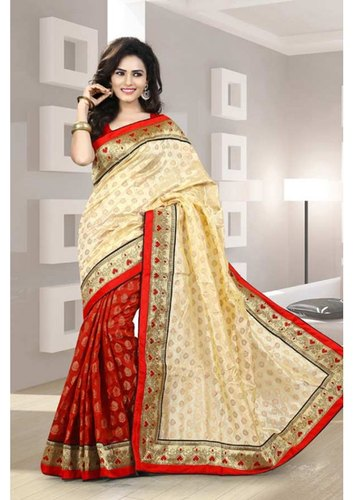 Ladies Chanderi Saree, 5.2 m With Blouse Piece