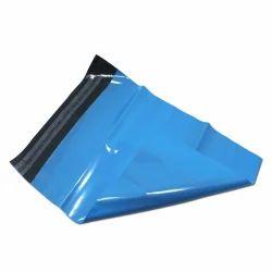 Blue Plastic Courier Bag