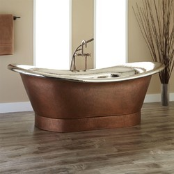 simple copper great gallery bathtub bathroom your is an element view bathtubs a into turning for antique minimalist in paradise
