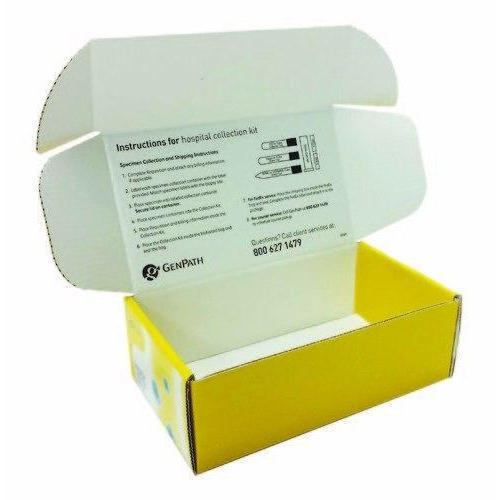 Yellow And White Printed Mobile Packaging Box