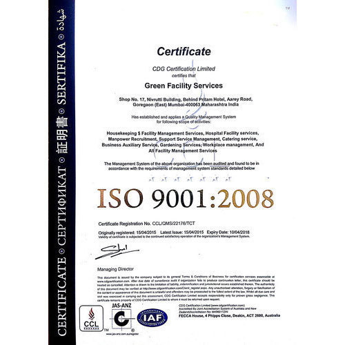 ISO 9001 Certification Consultancy Service in Vasai East, Vasai