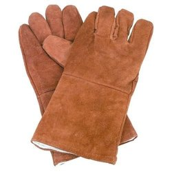 brown Heavy Duty Leather Hand Gloves