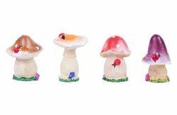 Resin Wonderland Mushroom Miniatures, For Garden, Size: Smal