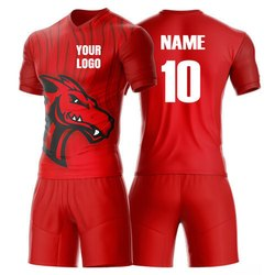 2a8ae7651 Red Round Neck Sports Jersey And Short
