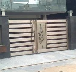 Silver Stainless Steel Sliding Gate for Home