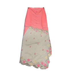 Cotton 3/4 Sleeve Plain Palazzo Suit
