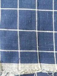 Natural Indigo Check Fabric