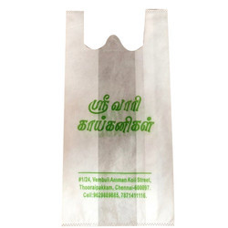 Single Color Printed W Cut PP Shopping Bag