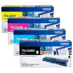 Brother TN 240 Toner Cartridge TN-240 BK/C/M/Y
