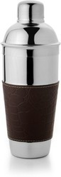 Stainless Steel Cocktail Shaker (l. Brown Croco)