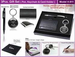 3pcs Gift Set (Pen,Keychain & Card Holder.H-911