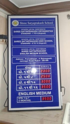 Electronic Fees/ Charges Display