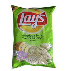 Lays Cream and Onion Chips, Packaging: packet, No Artificial Flavour