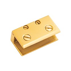 Folding Brass D Bracket