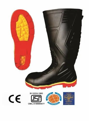 Colors PVC Gumboots With Steel Toe Cap  15 Inch