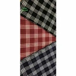 JC's Check Poly Cotton Fabric, For Dress, GSM: 150-200 GSM