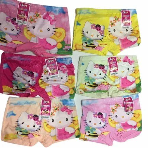 c81e3aec8a2 Cotton Kids Girls Kitty Printed Underwear