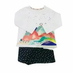 Cotton Casual Wear Baby Party Wear Printed Garments