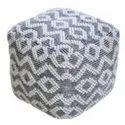 Handmade Pet Material Modern Design Indian Pouf Manufacturers from india