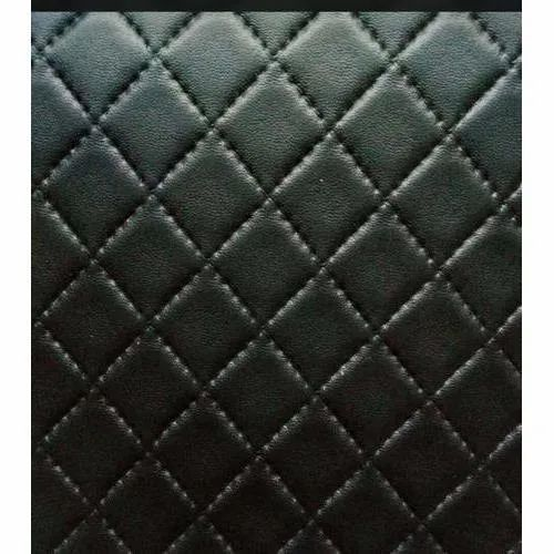 Black Artificial Jacket Leather Fabric