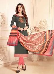 Regular Wear Soft Cotton Churidar Suits