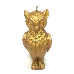 Golden Owl Candle