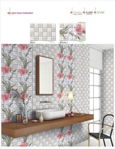 Ceramic Multicolored 18x12 Digital Wall Tiles No 3815 5 10 Mm